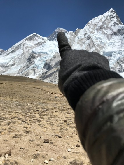That's Everest on my failed way to Kala Patthar.
