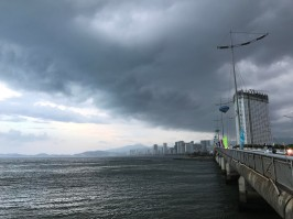 The city under the upcoming rain.